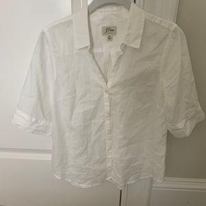 J. Crew Petite Short Sleeve Button Up Shirt